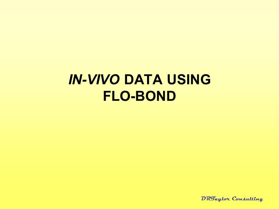 IN-VIVO DATA USING FLO-BOND