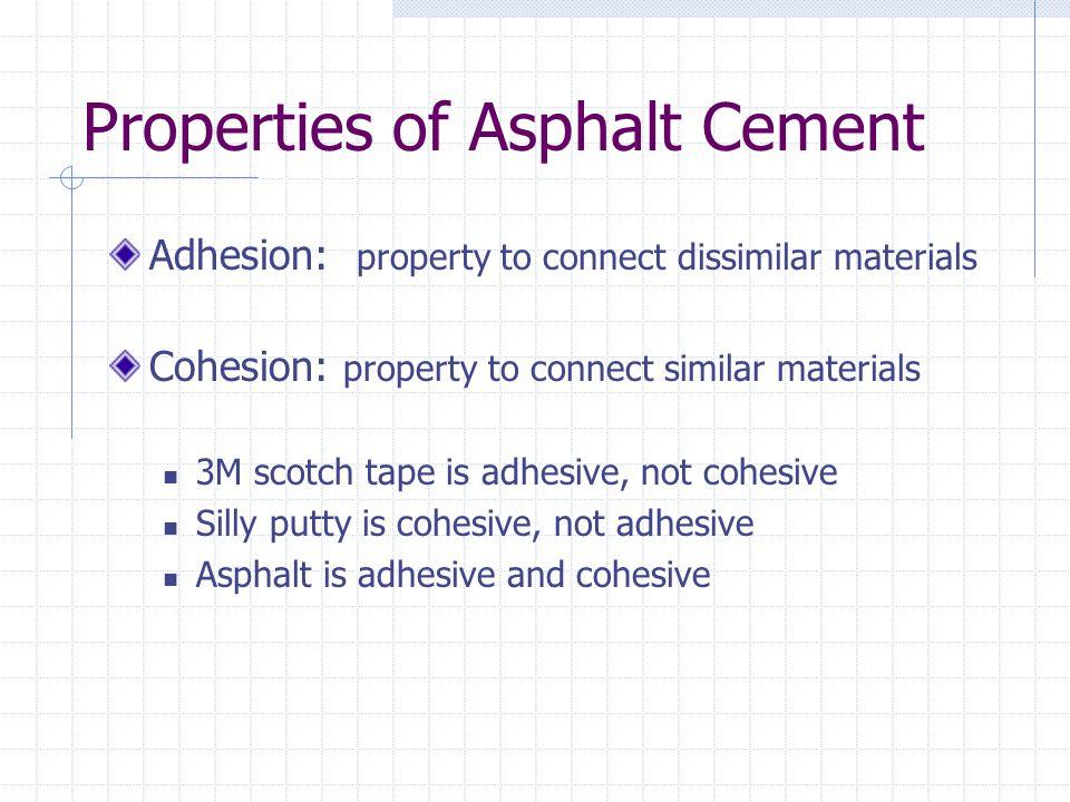 Properties of Asphalt Cement