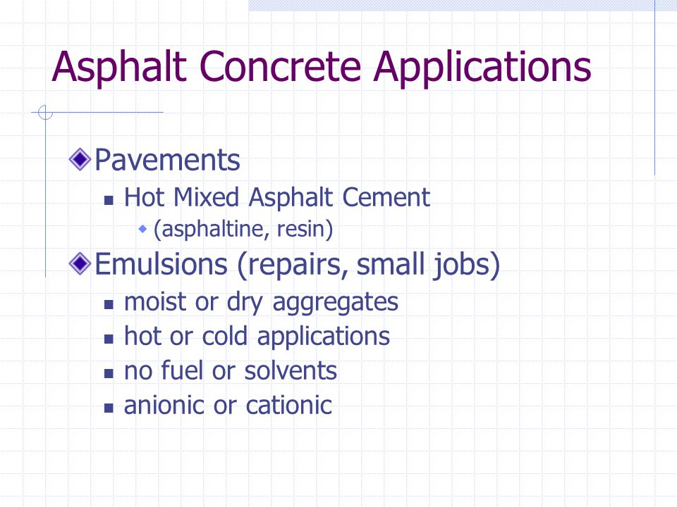 Asphalt Concrete Applications