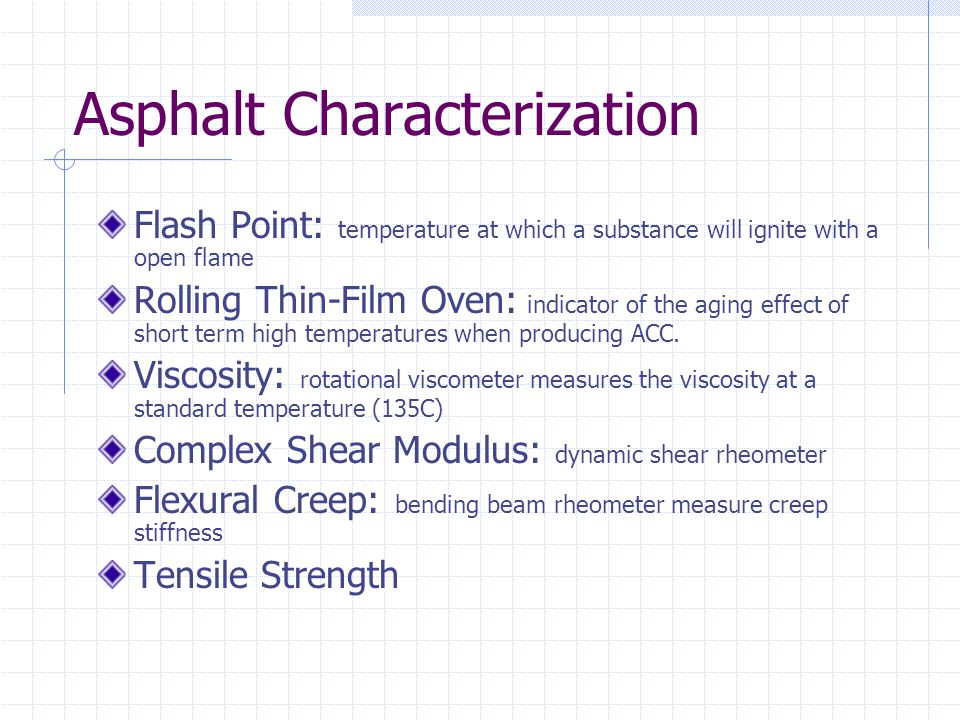 Asphalt Characterization