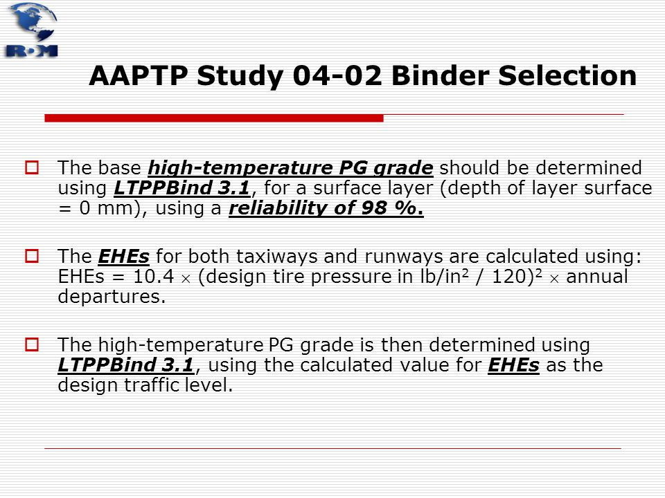 AAPTP Study 04-02 Binder Selection