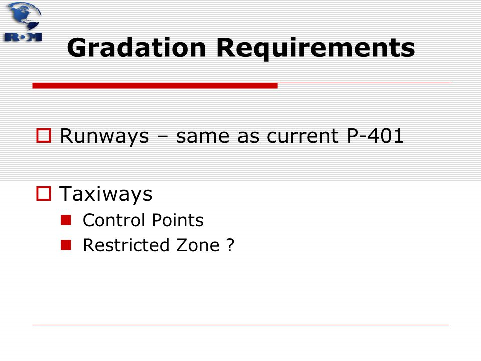 Gradation Requirements