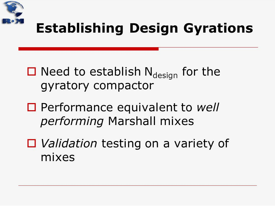 Establishing Design Gyrations