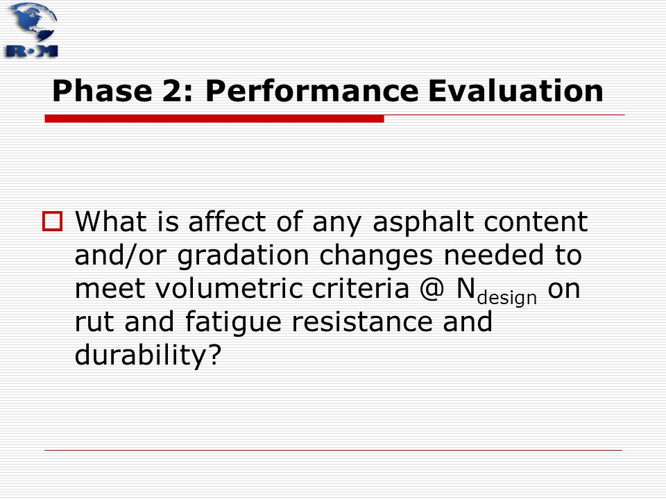 Phase 2: Performance Evaluation