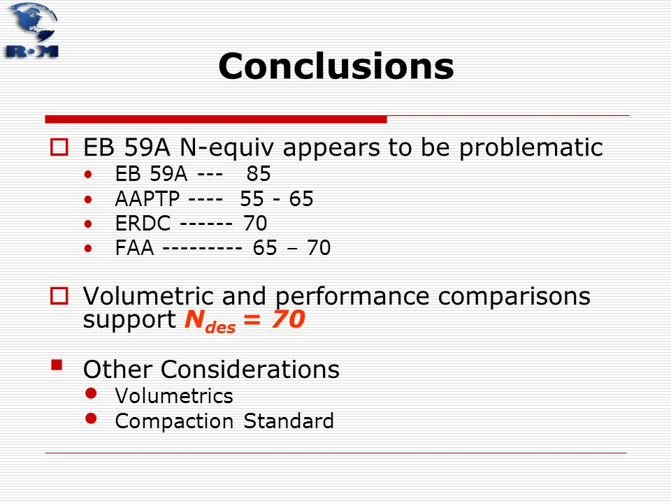 Conclusions EB 59A N-equiv appears to be problematic