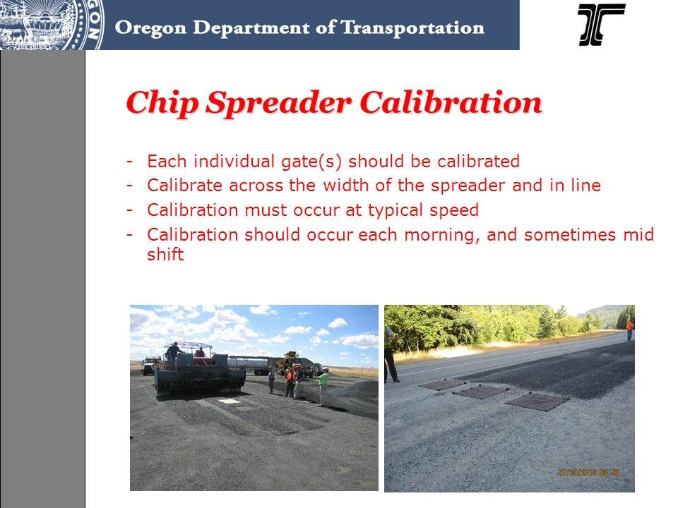 Chip Spreader Calibration
