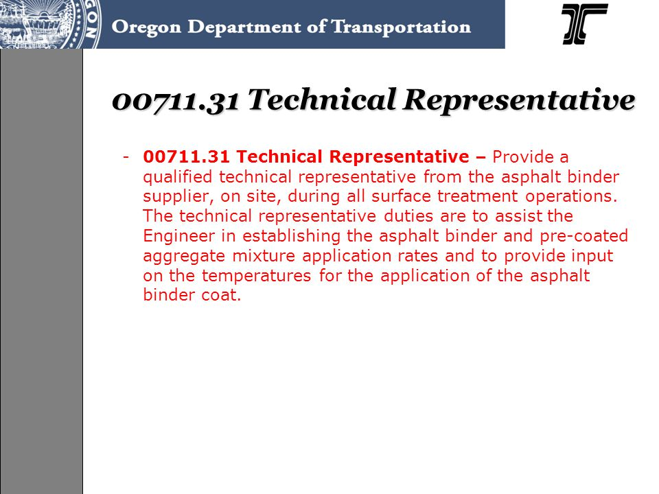 00711.31 Technical Representative