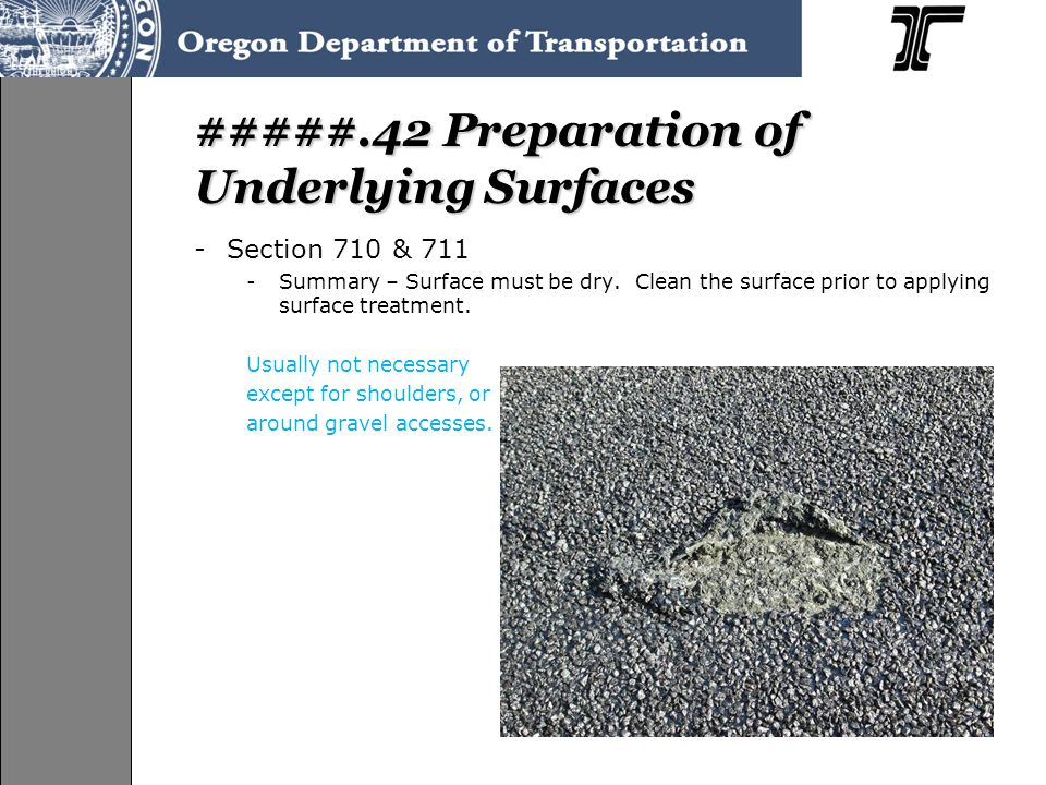 #####.42 Preparation of Underlying Surfaces