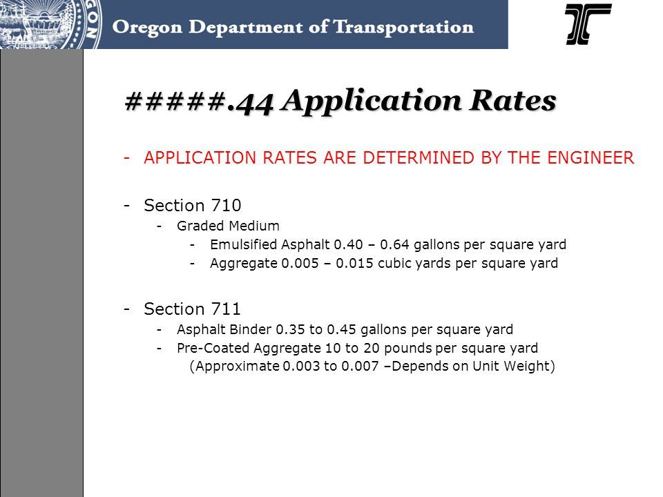 #####.44 Application Rates