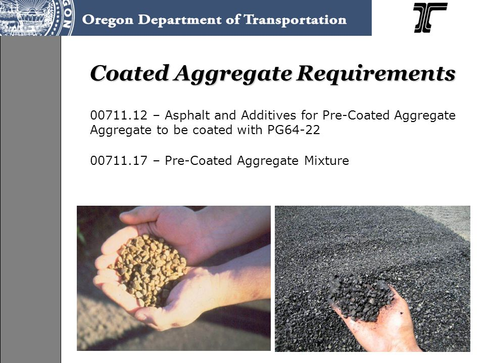 Coated Aggregate Requirements