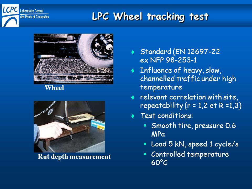 LPC Wheel tracking test