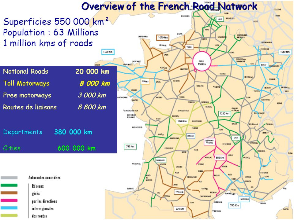 Overview of the French Road Natwork