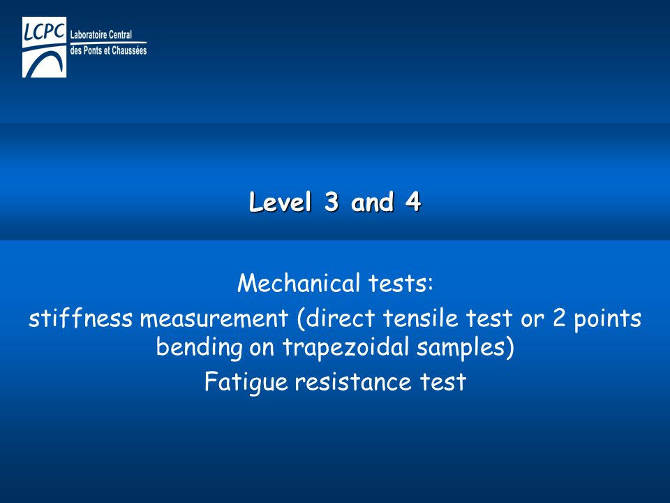 Fatigue resistance test