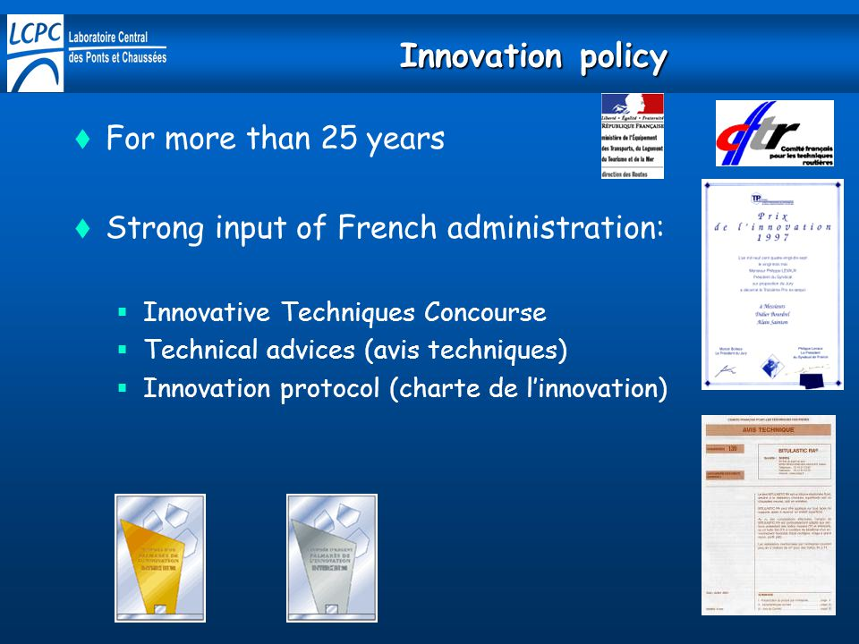 Innovation policy For more than 25 years