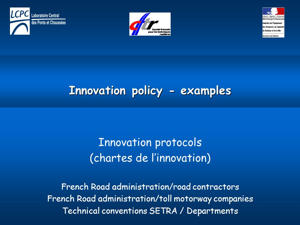 Innovation policy - examples