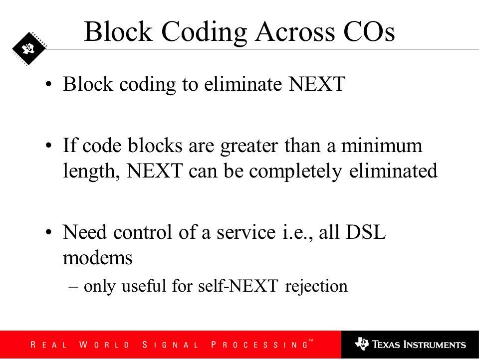 Block Coding Across COs