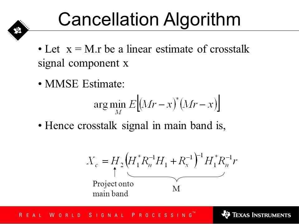 Cancellation Algorithm