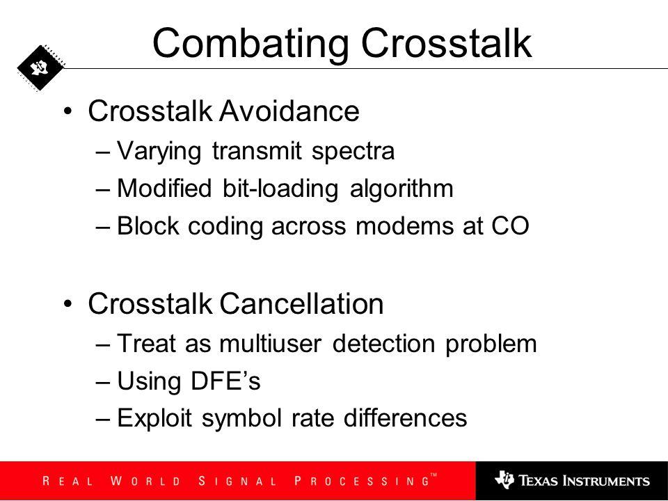 Combating Crosstalk Crosstalk Avoidance Crosstalk Cancellation