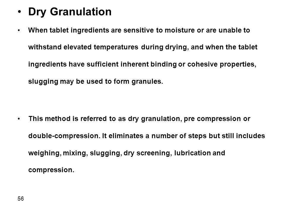 Dry Granulation