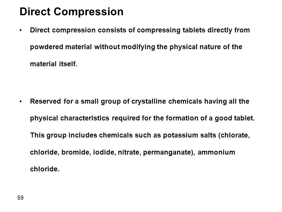 Direct Compression