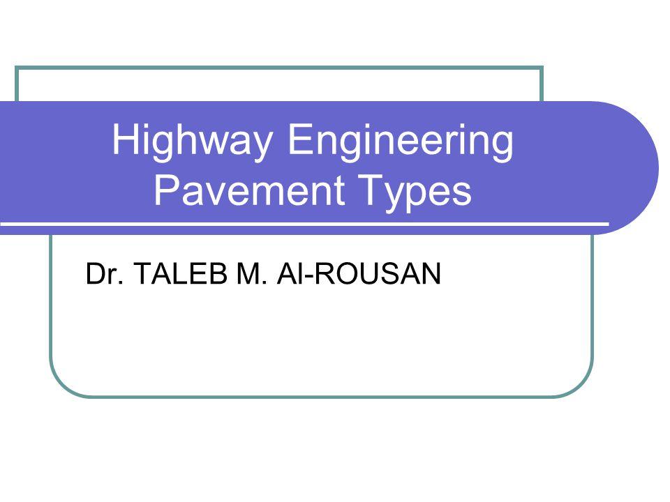 Highway Engineering Pavement Types