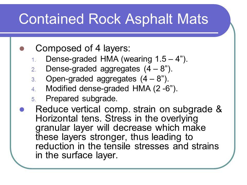 Contained Rock Asphalt Mats