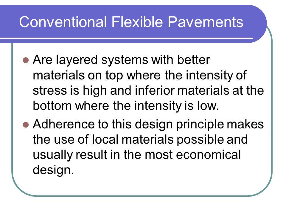 Conventional Flexible Pavements