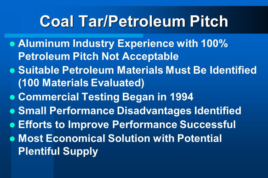 Coal Tar/Petroleum Pitch