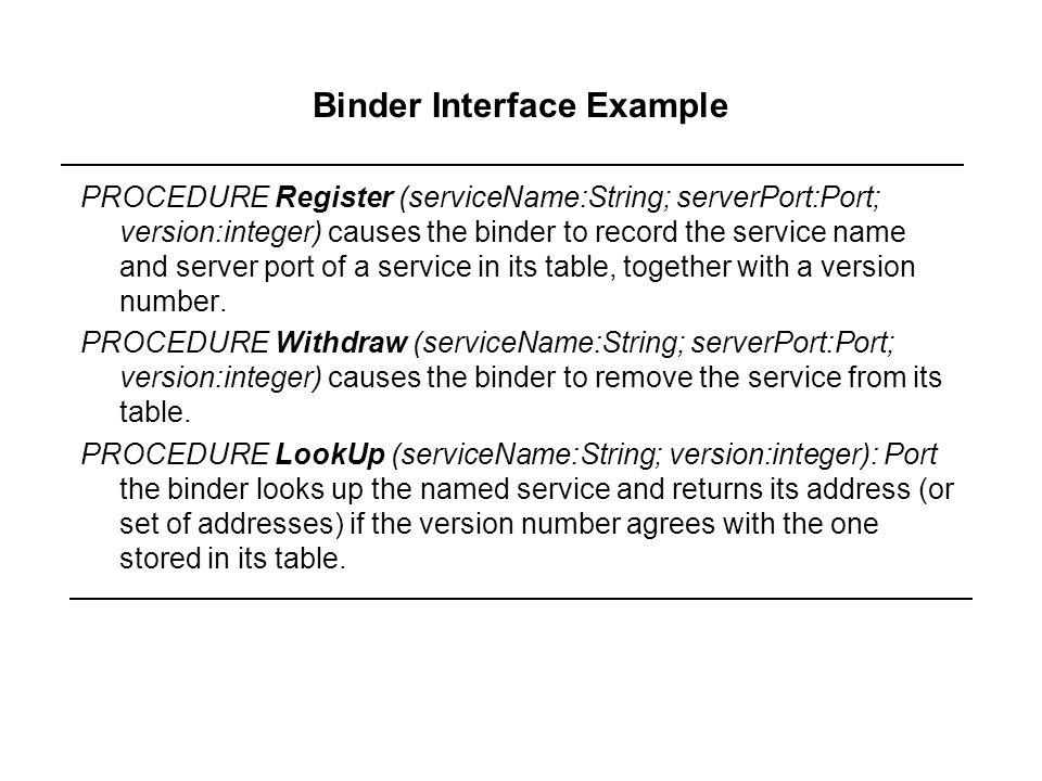 Binder Interface Example