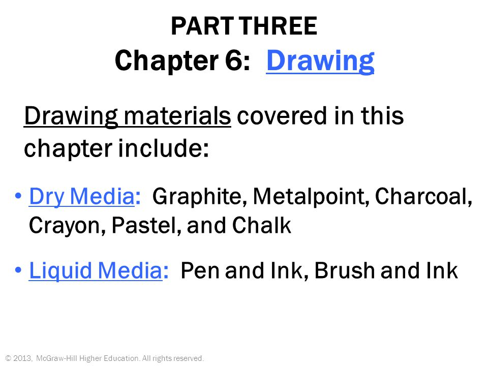 PART THREE Chapter 6: Drawing