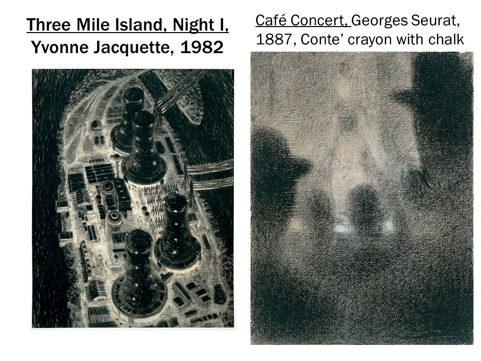 Three Mile Island, Night I, Yvonne Jacquette, 1982