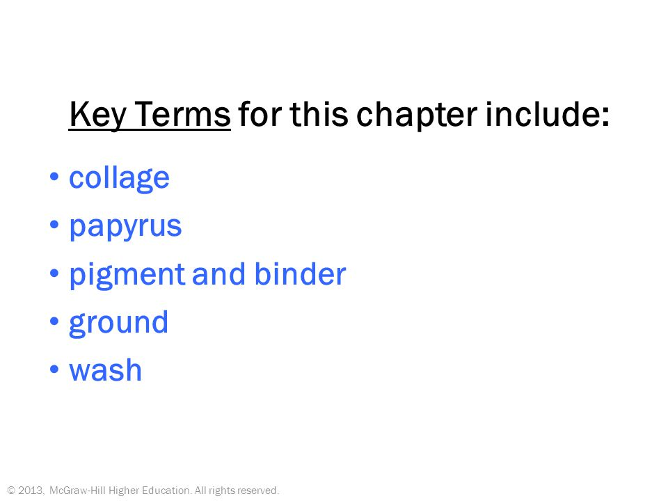 Key Terms for this chapter include:
