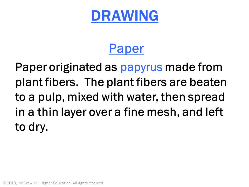 DRAWING Paper.