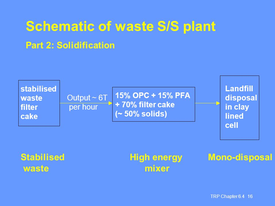 Schematic of waste S/S plant