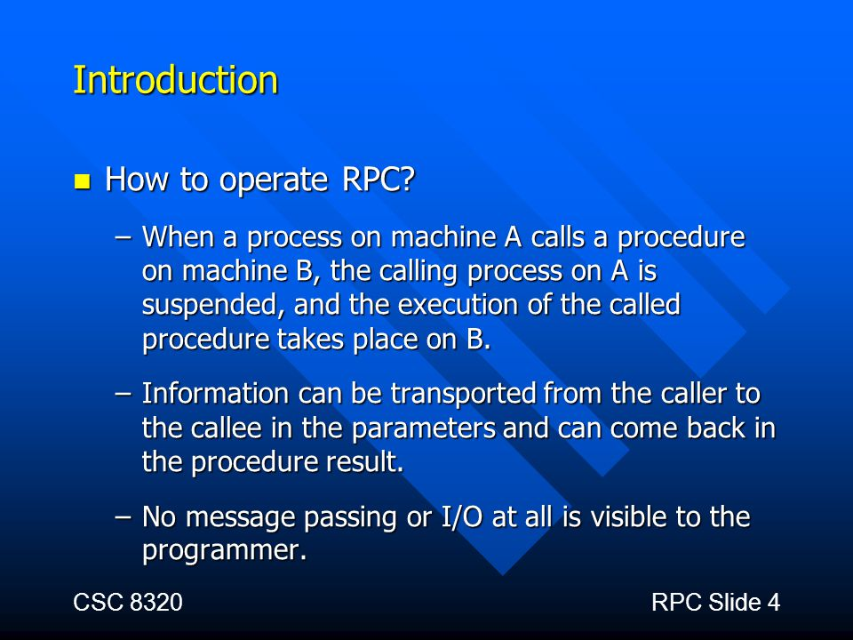Introduction How to operate RPC