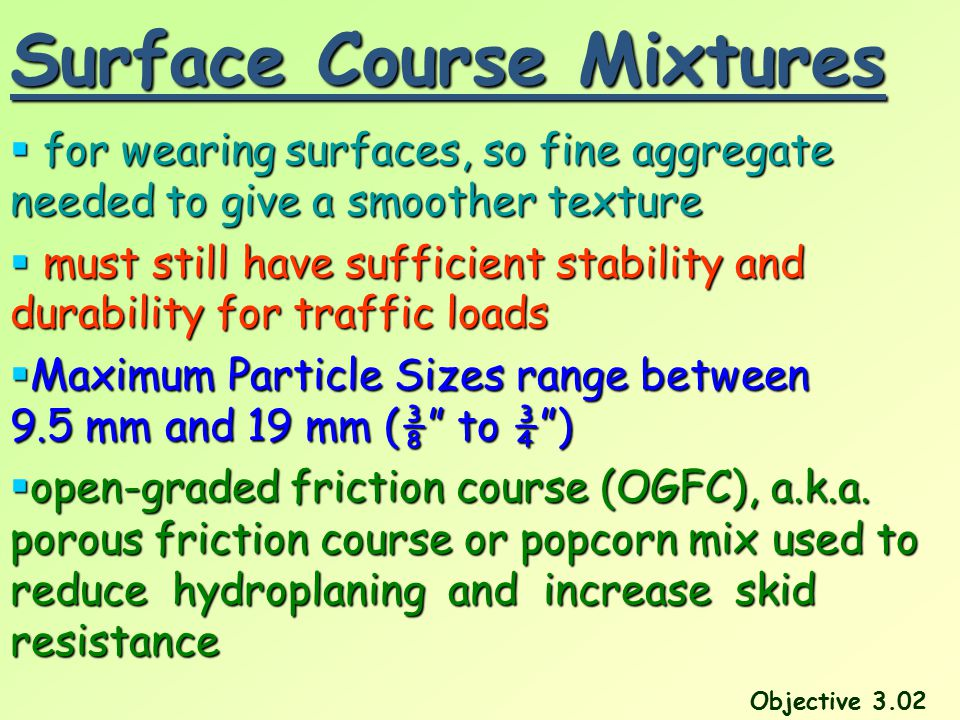 Surface Course Mixtures