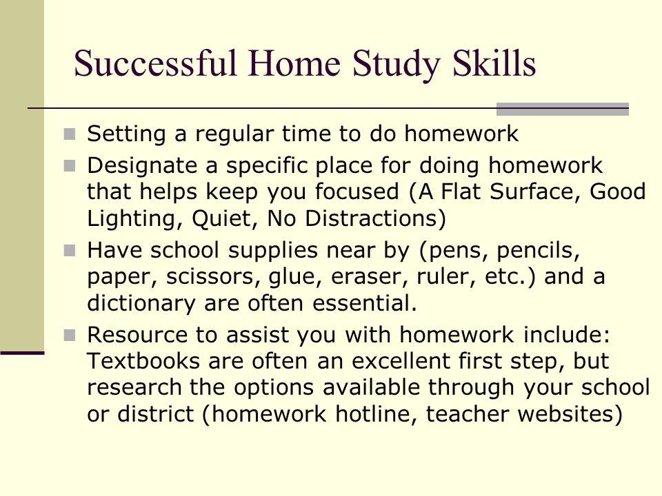 Successful Home Study Skills