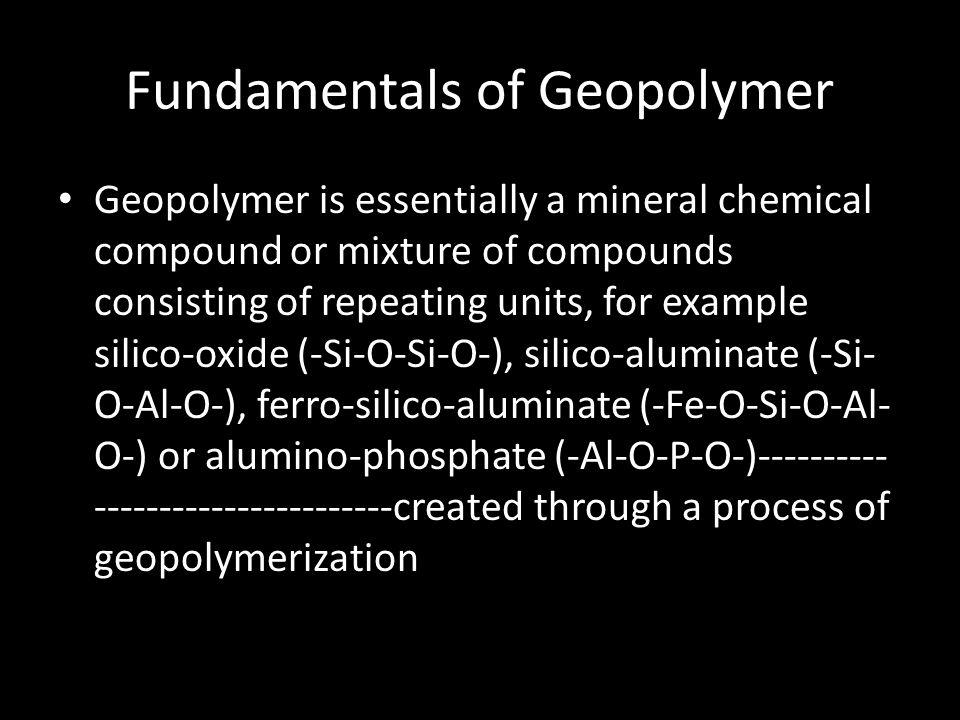 Fundamentals of Geopolymer