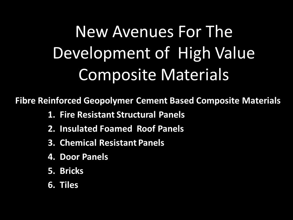 New Avenues For The Development of High Value Composite Materials