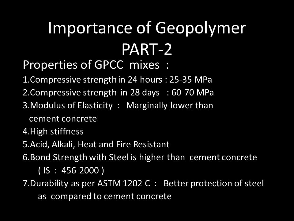Importance of Geopolymer PART-2