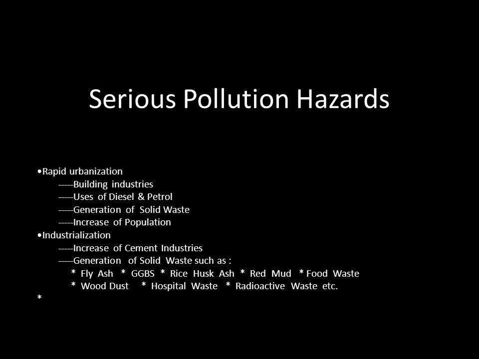 Serious Pollution Hazards