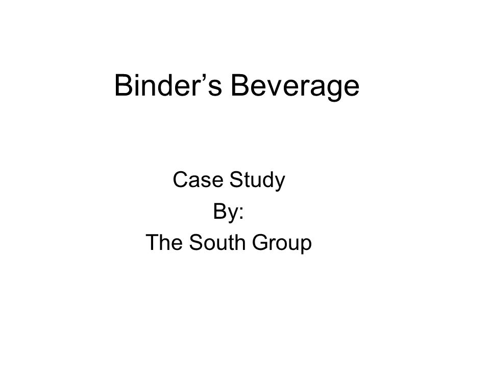 Case Study By: The South Group
