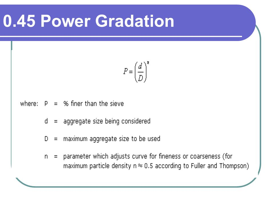 0.45 Power Gradation