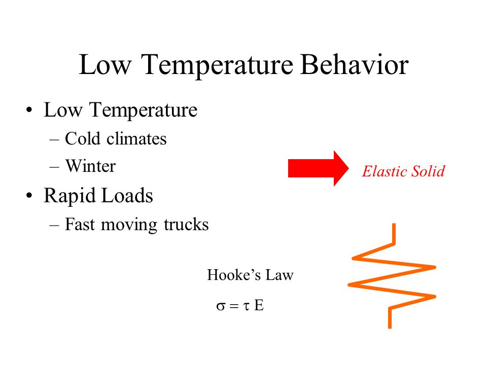 Pavement Behavior (Low Temperatures)