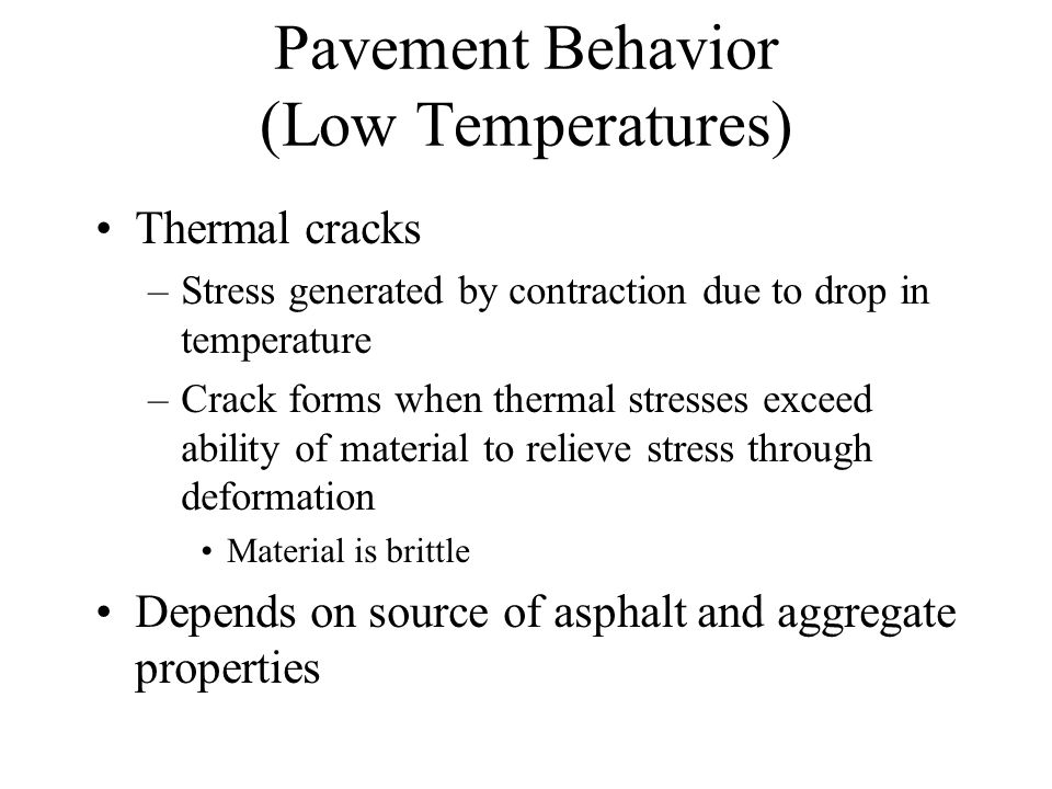 Thermal Cracking Courtesy of FHWA
