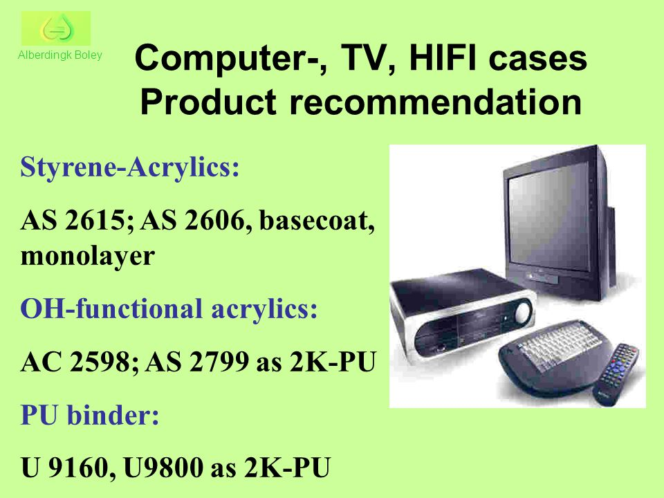Computer-, TV, HIFI cases Product recommendation