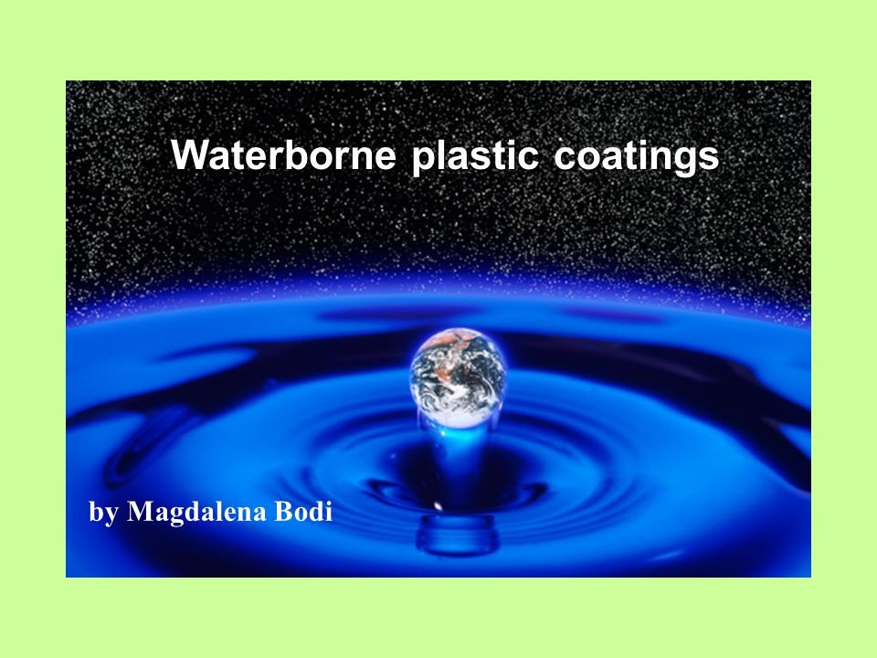 Waterborne plastic coatings