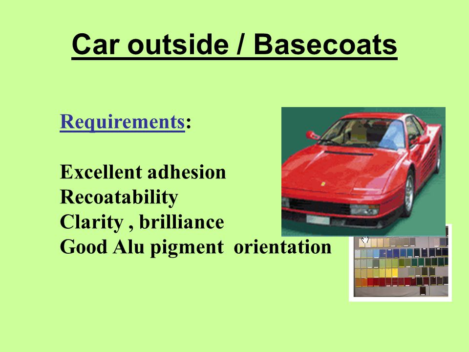 Car outside / Basecoats