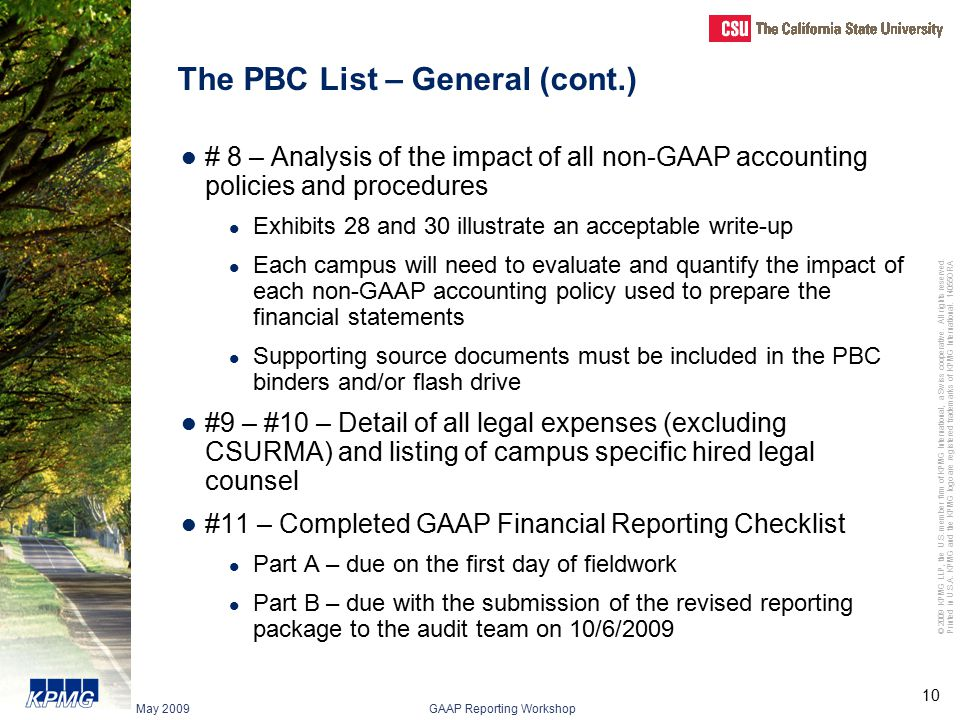 The PBC List – General (cont.)