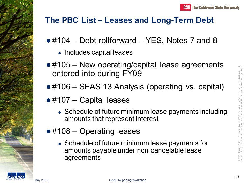 The PBC List – Leases and Long-Term Debt